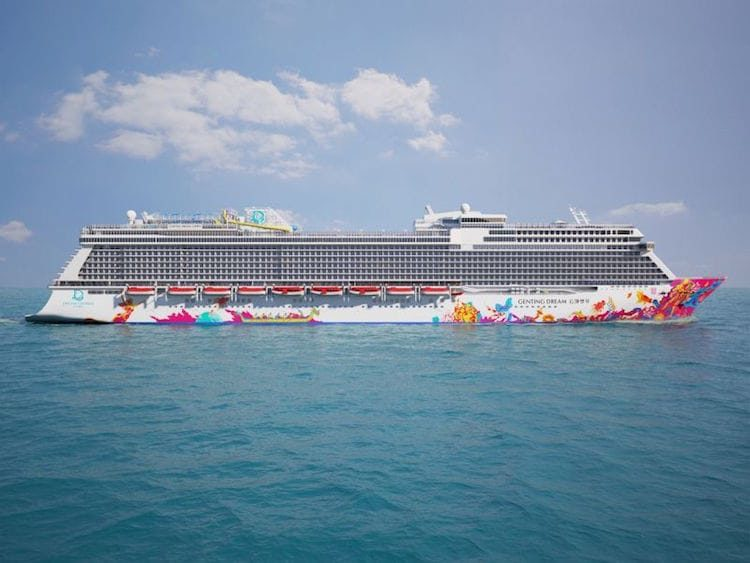 Genting Dream von der Seite / © Dream Cruises