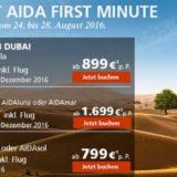Aktuelle Just AIDA First Minute Schnäppchen