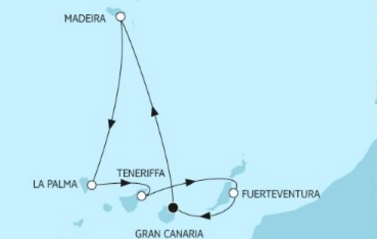 Neue Mein Schiff 1 Kanaren mit Madeira © TUI Cruises