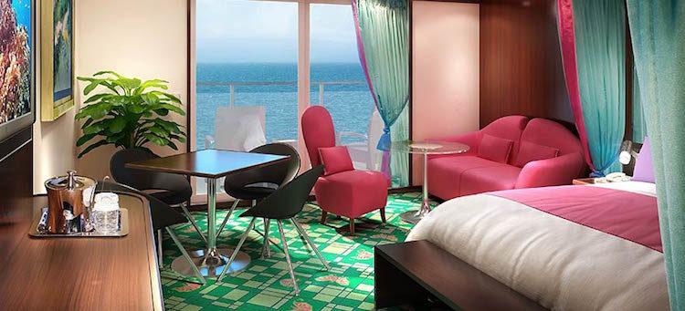 Penthouse mit großem Balkon, Heck Norwegian Jade © NCL
