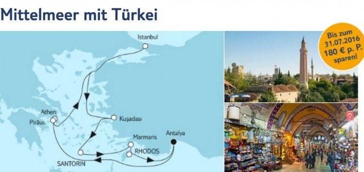 Mein Schiff 1 Mittelmeer mit Türkei / © TUI Cruises