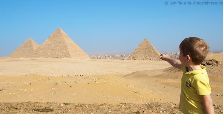 Julian hat die Pyramiden von Gizeh entdeckt