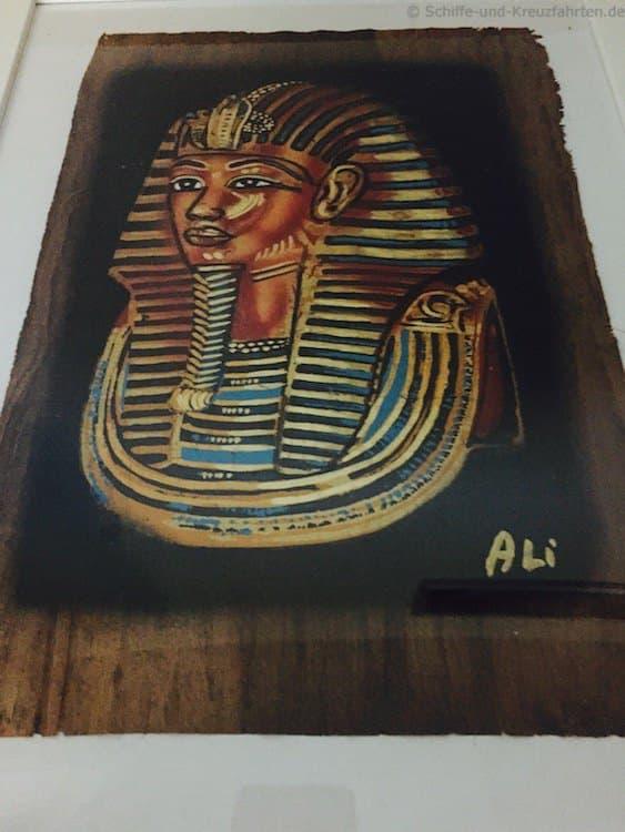Papyrus-Bild: Tut Anch Amun - kostet 15 Euro