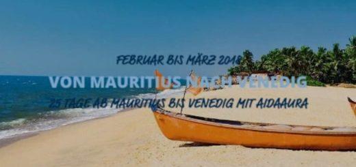 AIDAaura von Mauritius nach Vendedig