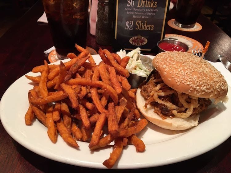 Burger in der Heartland Brauerei