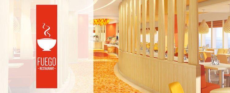 AIDAprima Fuego Restaurant / © AIDA Cruises