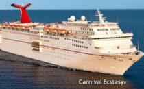 Carnival Ecstasy: Frau über Bord