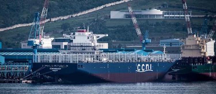 CCNI Arauco brennt im Hamburger Hafen / © NSC