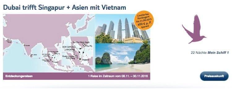 Dubai trifft Singapur und Asien mit Vietnam / © TUI Cruises