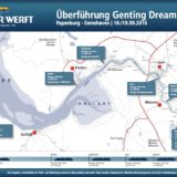 Zeitplan Emsüberführung der Genting Dream / © Meyer Werft