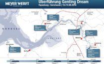 Genting Dream Emsüberführung: Livestream & Webcam – 18. und 19. September