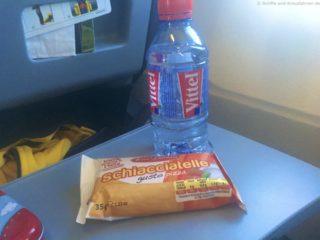 Air Berlin gratis Wasser und Snack