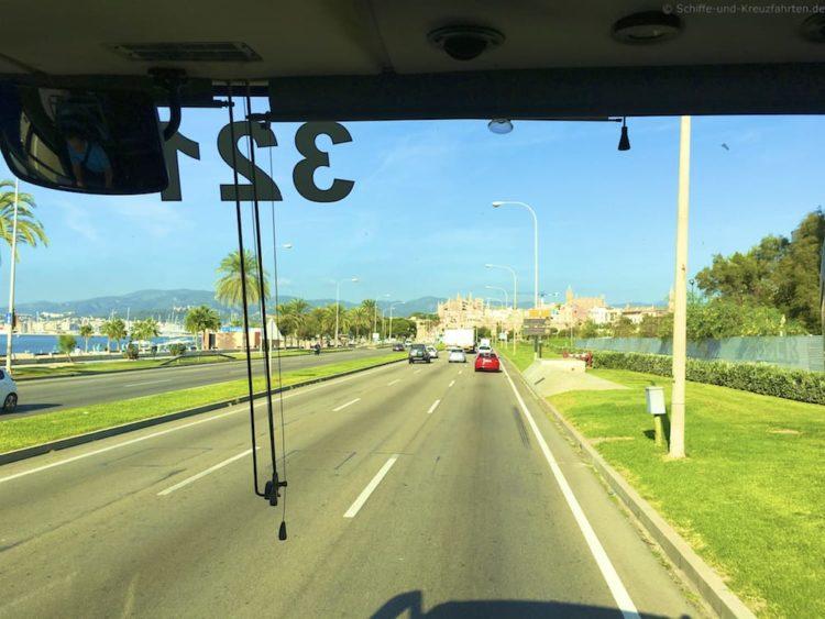 Busfahrt Palma Airport zum Hafen