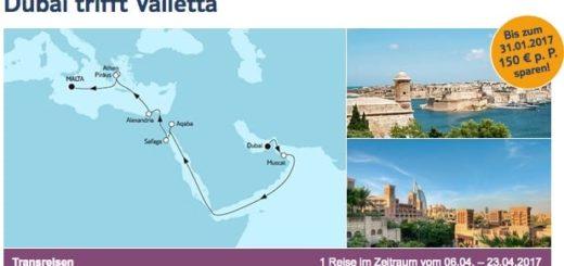 Mein Schiff 1 Dubai trifft Valletta / © TUI Cruises