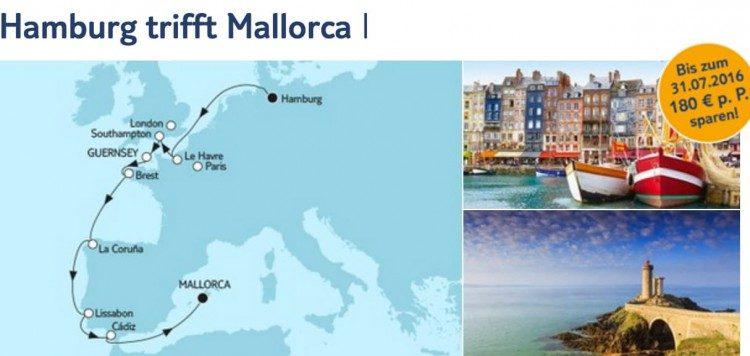 Mein Schiff 1 Hamburg trifft Mallorca 1 / © TUI Cruises