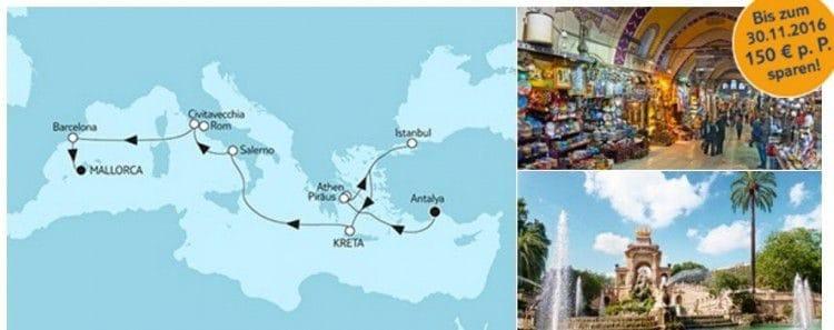 Mein Schiff 1 Antalya trifft Mallorca / © TUI Cruises