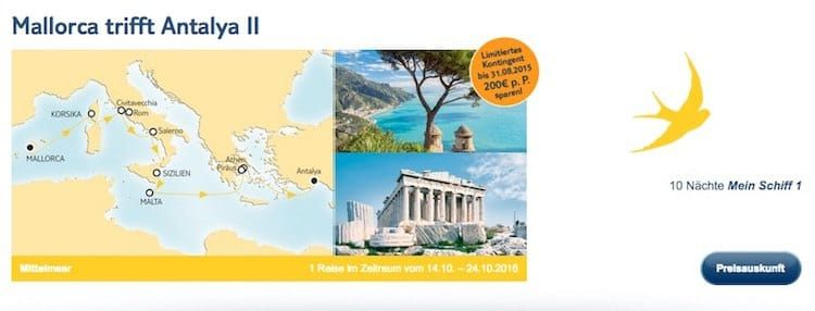 Mein Schiff 1 Mallorca trifft Antalya 2 / © TUI Cruises