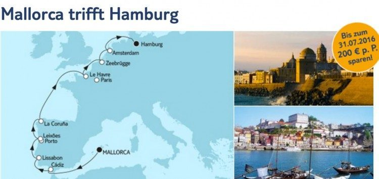 Mein Schiff 1 Mallorca trifft Hamburg / © TUI Cruises