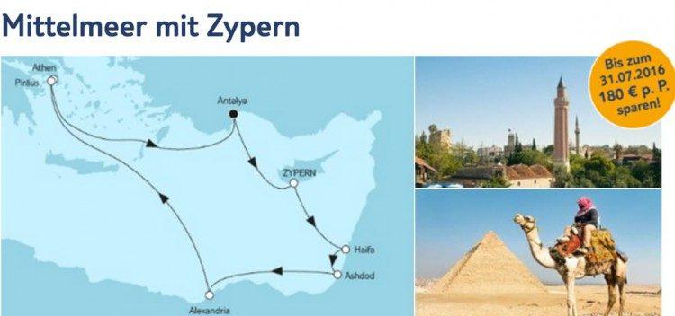 Mein Schiff 1 Mittelmeer mit Zypern / © TUI Cruises