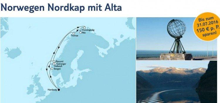 Mein Schiff 1 Norwegen Nordkap mit Alta / © TUI Cruises