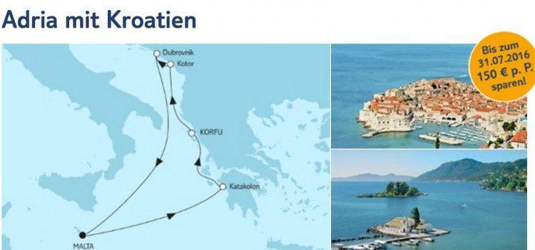 Mein Schiff 2 Adria mit Kroatien / ©TUI Cruises