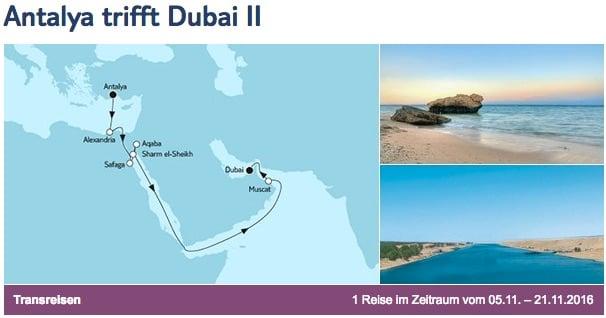 Mein Schiff 3 Antalya trifft Dubai 2 / © TUI Cruises