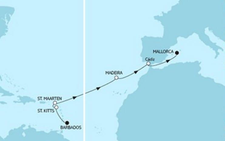 Mein Schiff 3 Barbados trifft Mallorca © TUI Cruises