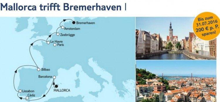 Mein Schiff 3 Mallorca trifft Bremerhaven 1 / © TUI Cruises