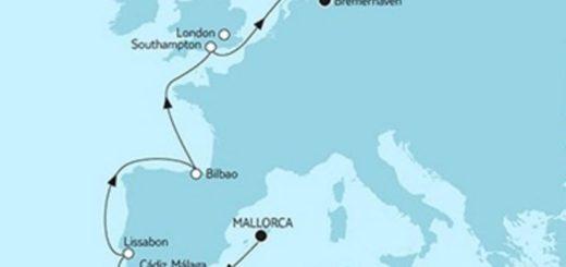 Mein Schiff 3 Mallorca trifft Bremerhaven 1 - 2018 © TUI Cruises