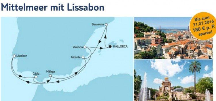 Mein Schiff 3 Mittelmeer mit Lissabon / © TUI Cruises