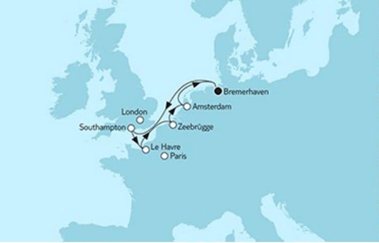 Mein Schiff 3 Westeuropa mit Amsterdam © TUI Cruises