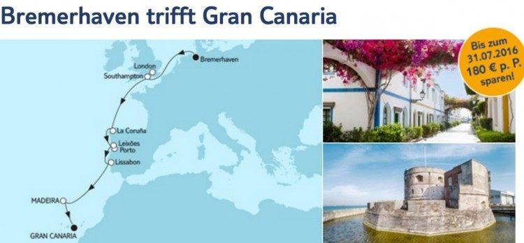 Mein Schiff 4 Bremerhaven trifft Gran Canaria / © TUI Cruises