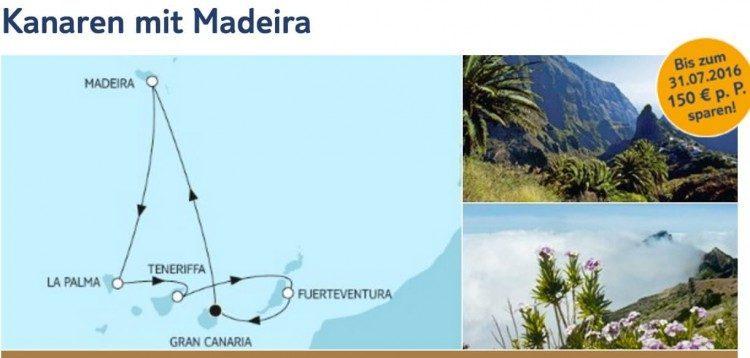 Mein Schiff 4 Kanaren mit Madeira / © TUI Cruises
