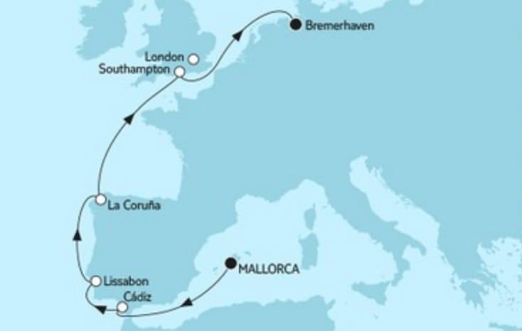 Mein Schiff 4 Mallorca trifft Bremerhaven 2 - 2017 © TUI Cruises