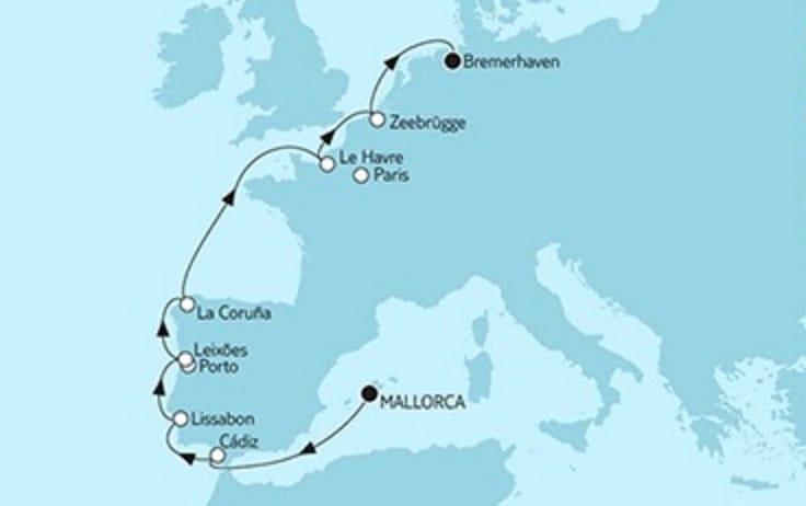 Mein Schiff 4 Mallorca trifft Bremerhaven 2 - 2018 © TUI Cruises