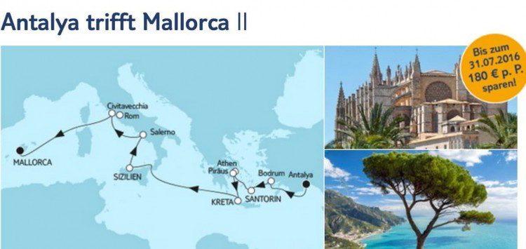 Mein Schiff 5 Antalya trifft Mallorca 2 / © TUI Cruises