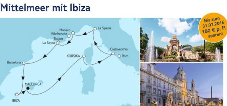 Mein Schiff 5 Mittelmeer mit Ibiza / © TUI Cruises