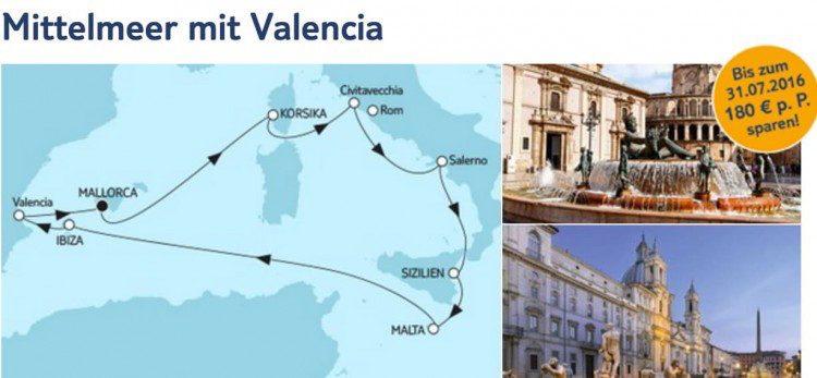 Mein Schiff 5 Mittelmeer mit Valencia / © TUI Cruises