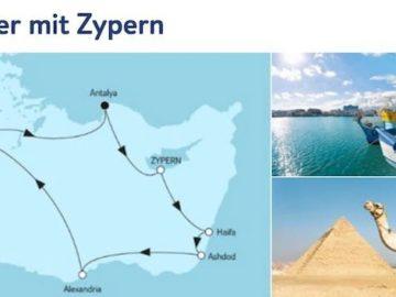 Mein Schiff 5 Mittelmeer mit Zypern / © TUI Cruises