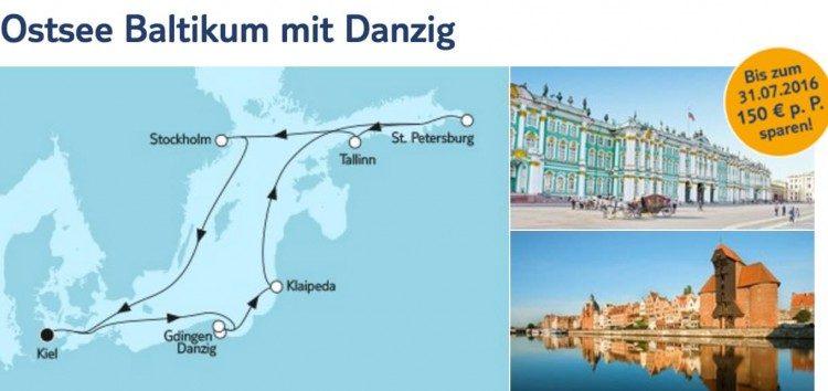 Mein Schiff 6 Ostsee Baltikum mit Danzig / © TUI Cruises