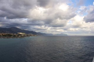 Auslaufen Genua