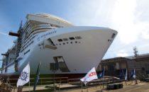 MSC Meraviglia: Aufschwimmen in Saint Nazaire / Float Out Ceremony