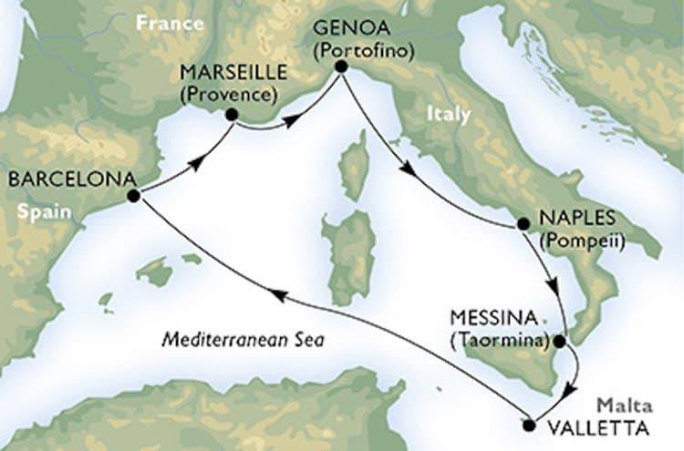 Juwelen des Mittelmeers mit der MSC Meraviglia / © MSC Kreuzfahrten