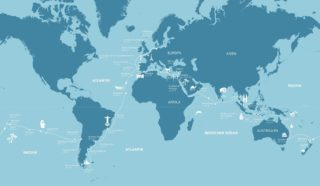 AIDAcara Weltreise - Routenkarte