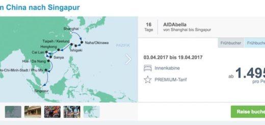AIDAbella von China nach Singapur / © AIDA Cruises