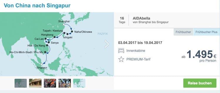 Briefe Nach China Dauer : Aidabella von china nach singapur ⚓