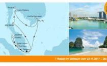 Mein Schiff 1 Asien ab/bis Singapur