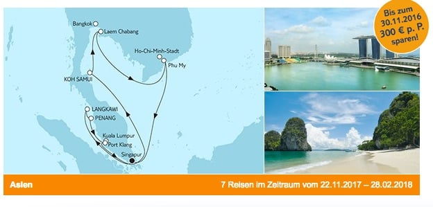 Mein Schiff 1 Asien ab/bis Singapur / © TUI Cruises