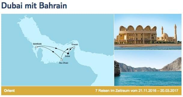 Mein Schiff 3 Dubai mit Bahrain / © TUI Cruises