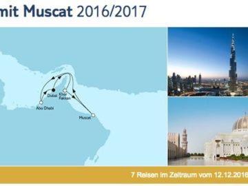 Mein Schiff 3 Dubai mit Muscat / © TUI Cruises